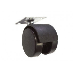 Мебельное колесо d=50mm N102 BL/BL без тормоза