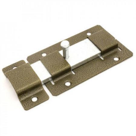 Задвижка дверная ЗД-02 полимер бронза