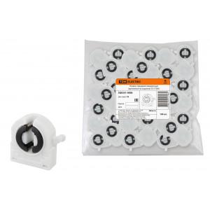 Патрон для люминисцентных ламп G13 торцевой поворотный (крепление на защелки) TDM