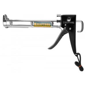 KRAFTOOL полукорпусной пистолет для герметика Professional, хромированный, 320 мл.