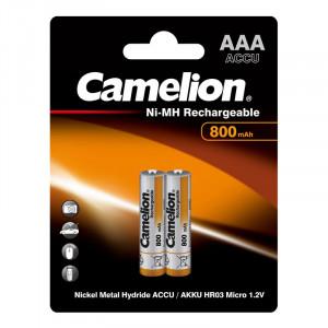 Аккумулятор Camelion R03 800 mAh Ni-MH BL2