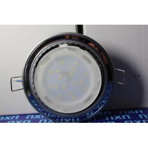 Встраиваемый потолочный светильник Ecola GX53 H4  без рефл. 2 цв. хром-черный хром-хром 38х106