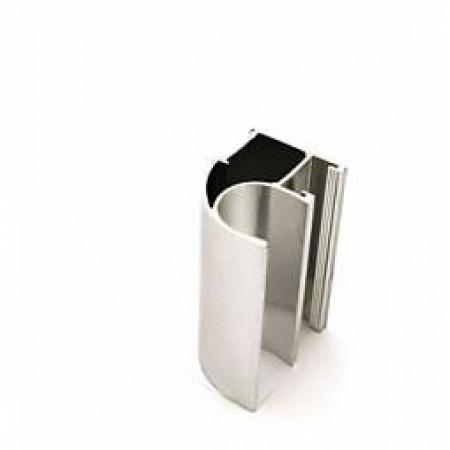 Ассиметричный профиль ручка APR01/2800/SC/3   серебро 2800мм