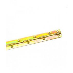 Петля рояльная 788 мм желтый цинк