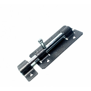 Задвижка дверная ЗД-01 полимер серебро