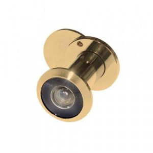 Глазок дверной 35-60-GP алюм д-р16 мм со шторкой Золото