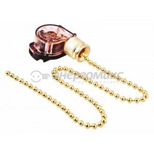 #Выключатель для бра с цепочкой золото 270 мм