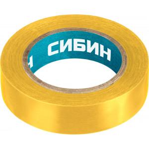 Изолента ПВХ, 15 мм х 130 мкм, желтая