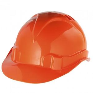 Каска защитная из ударопрочн.пластм. оранжевая