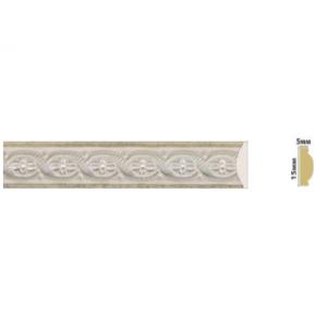 Плинтус багет Вена Белобежевый 815/2-04K 2,5 м