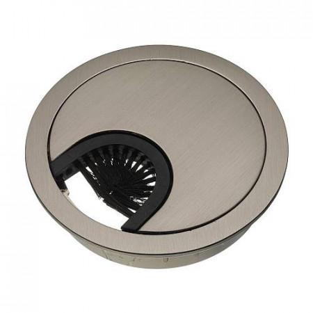 Заглушка кабель-канала метал-ая D-60 мм инокс PM-LBFI60-06