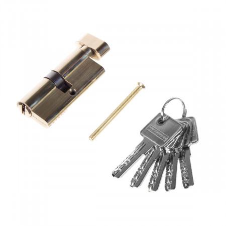Цилиндр TURDUS А60 РВ ключ/завертка Золото