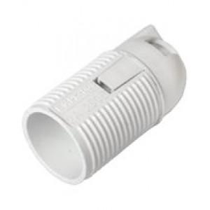 Патрон Е14 термостойкий пластик резьбовой белый СВЕТОПРИБОР TDM