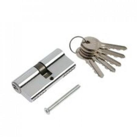 Цилиндр TURDUS А60РС ключ/ключ Хром