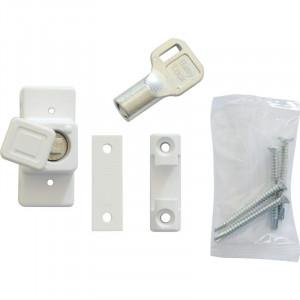 Блокиратор открывания белый с ключом