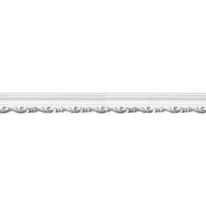 Плинтус потолочный 7024 серебро
