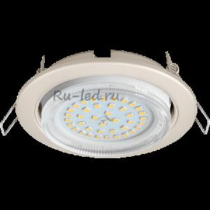 Встраиваемый потолочный светильник Ecola GX53 H4 светильник встраив. без рефл.  Жемчуг 38x106
