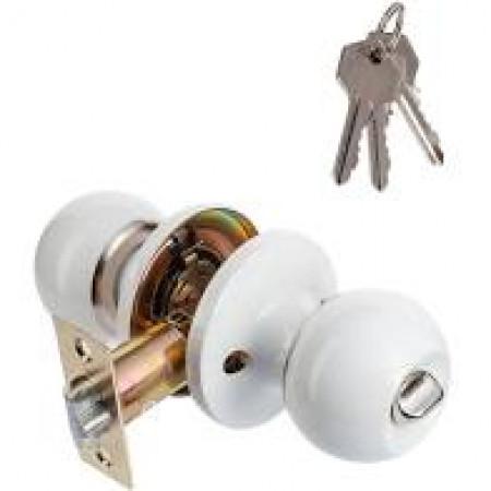 Замок 607 BL ET белая ключ-завертка