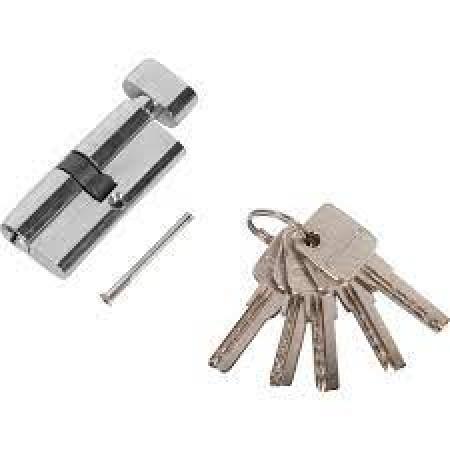 Цилиндр POLIDORE 70 РС 70мм ключ/завертка Хром
