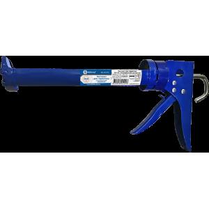 Пистолет для герметика КОБАЛЬТ 310 мл, полукорпусной усиленный ,резак, ремешок для переноски