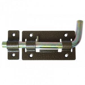Задвижка дверная ЗД-04 бронза плоский с проушиной ригель