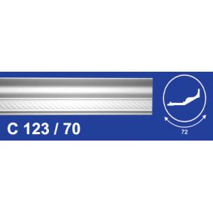 Плинтус потолочный  C123/70 Резной