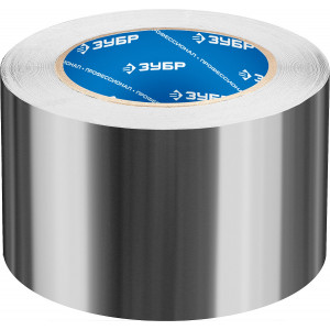 Алюминиевая лента, ЗУБР Профессионал 12262-75-50, до 120 °С, 60мкм, 75мм х 50м