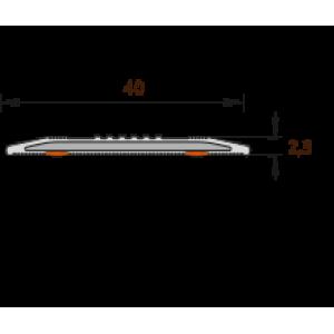 Лента антискользящая 40мм 1,8м   002/светло-серый