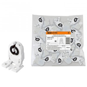 Патрон для люминисцентных ламп G13 втычной стоечный (крепление на защелки) TDM