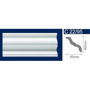 Плинтус потолочный  C22/95 Резной  (85*90/2м