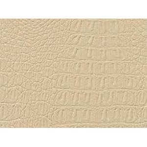 Искусственная кожа белая CROCODILE   001