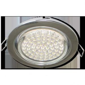 Встраиваемый потолочный светильник Ecola GX53 H4 Downlight without reflector_chrome 38x106