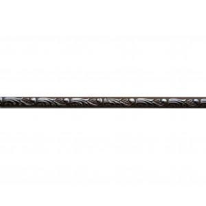 Багет Ажур Коричневый Хром на клеевой основе ( 2000*10 мм